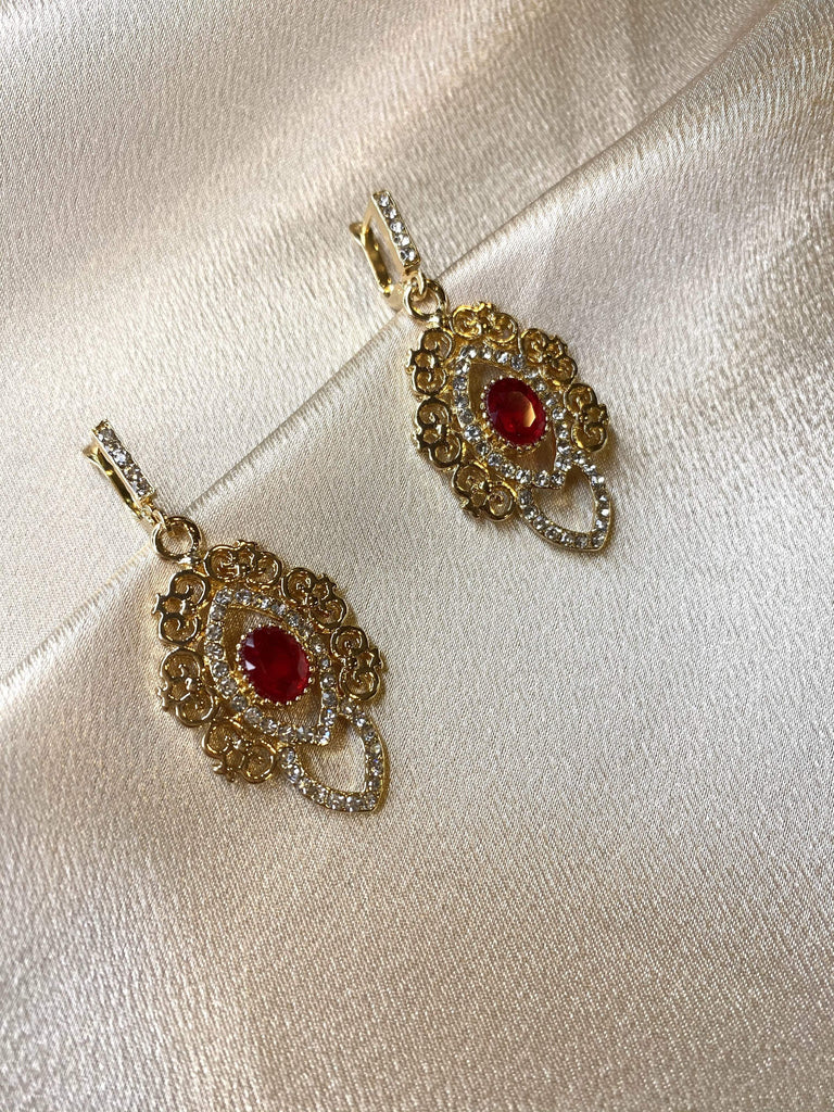 Ruby Rayana earrings - Kabayare Fashion