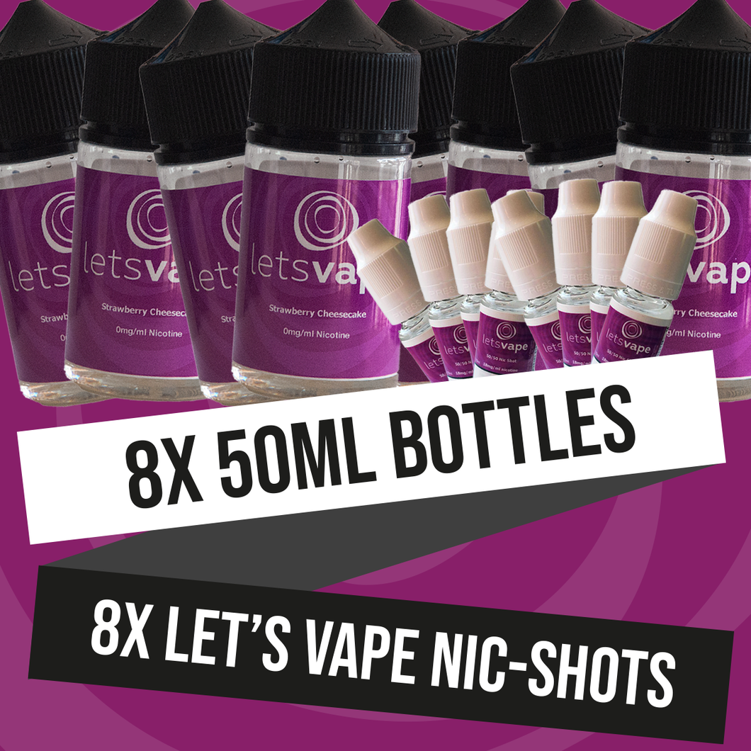 LET'S VAPE ENTHUSIAST PACKAGE (50ml)