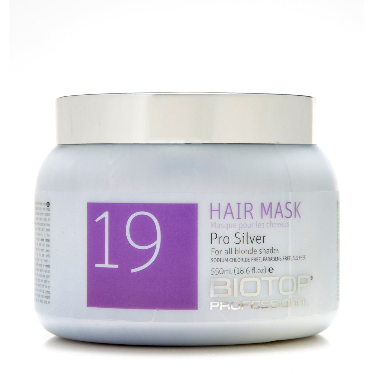 550ml BIO 19 Pro Silver Hair Mask