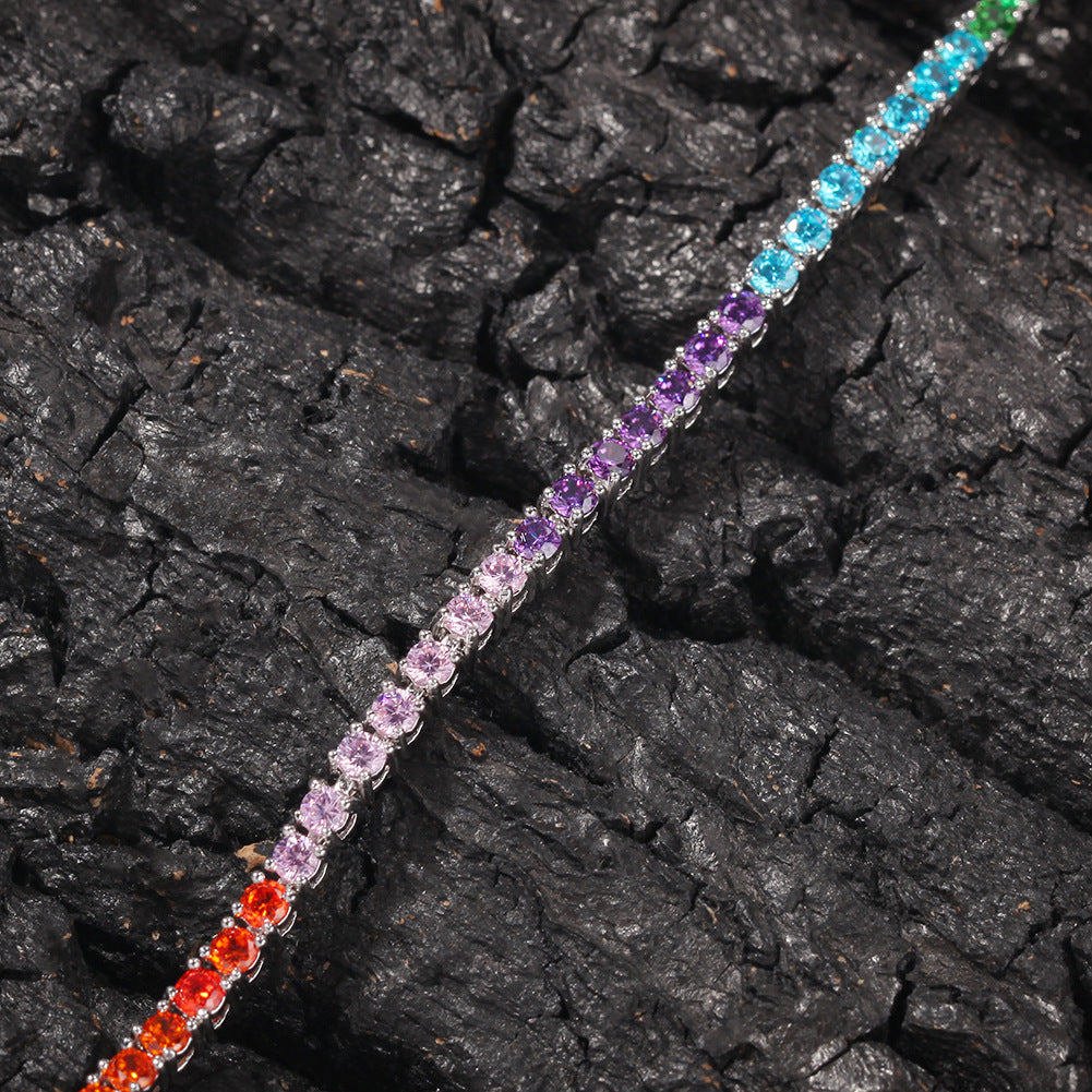 Limited Time Discounts- Multicolor Diamonds Tennis Bracelet