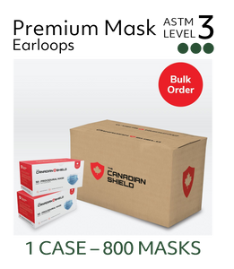 Canadian Made Premium Surgical Masks  - ASTM Level 3 (Case of 800 Masks)