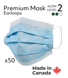Canadian Made Premium Surgical Masks  - ASTM Level 2  (Case of 1000 Masks)