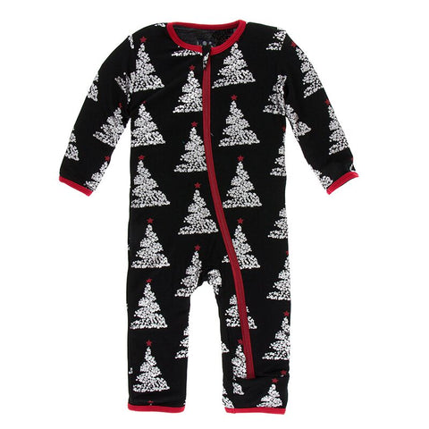 Holiday Print Coverall with zipper