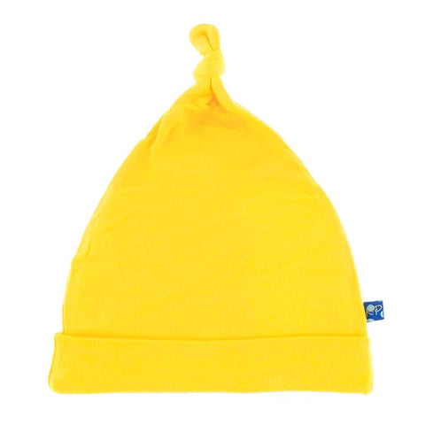 Solid Knot Hat in Lemon