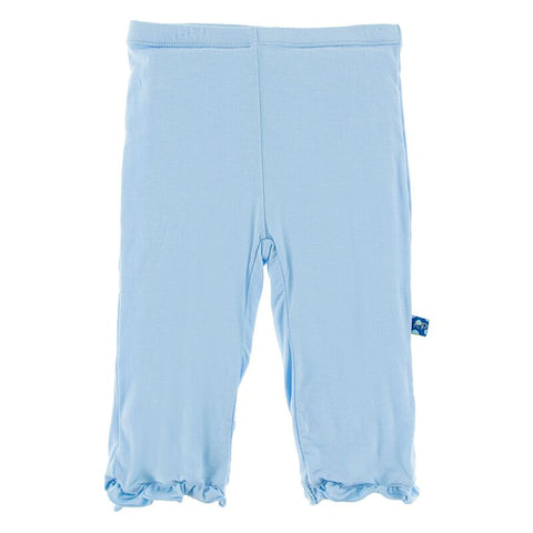 Basic Ruffle Pant in Pond