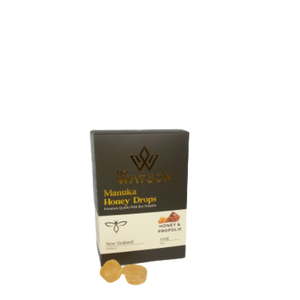 Dr Watson CBD Manuka Honey Drops Lemon Flavour Made in New Zealand Amazing for Sore Throats, Upset Stomachs, Airplanes, and General Wellbeing