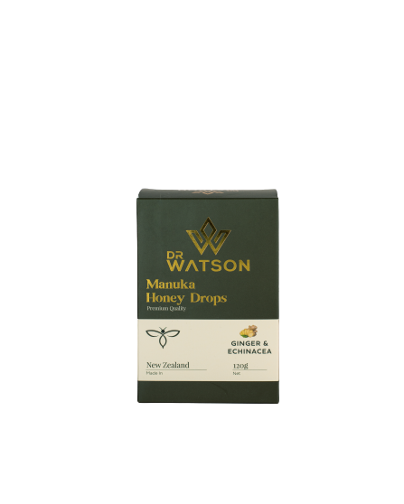 Dr Watson Manuka Honey Drops | Ginger & Echinacea
