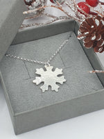 Textured Snowflake necklace