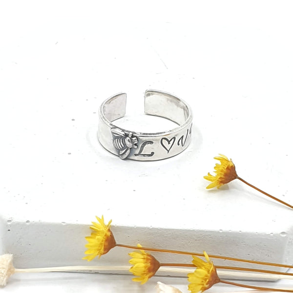 bee loved ring adjustable