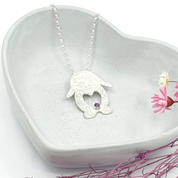 Harry lop love bunny heart necklace