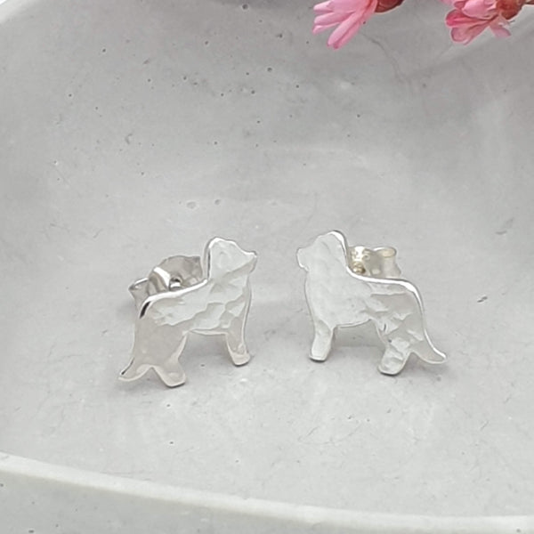Labrador dog stud earrings
