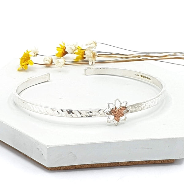 daisy bee cuff bangle