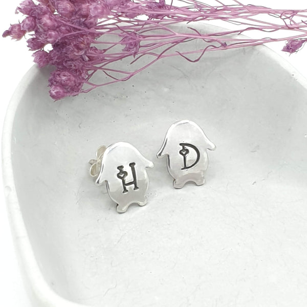 Personalised Lop Bunny stud earrings