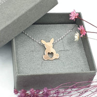 Rose Gold Georgie bunny necklace