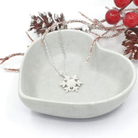 snowflake winter necklace