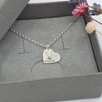 Bunny heart necklace