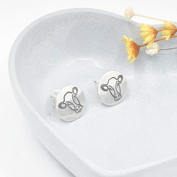 cow stud earrings