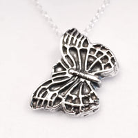 Fine silver butterfly necklace
