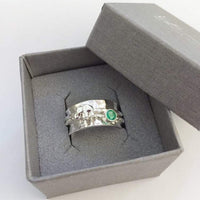 Elephant and green Onyx spinner ring