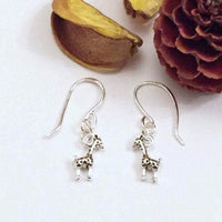 Giraffe drop earrings
