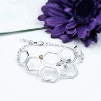 Honeycomb bee bracelet