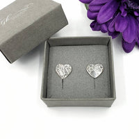 Art Deco heart stud earrings