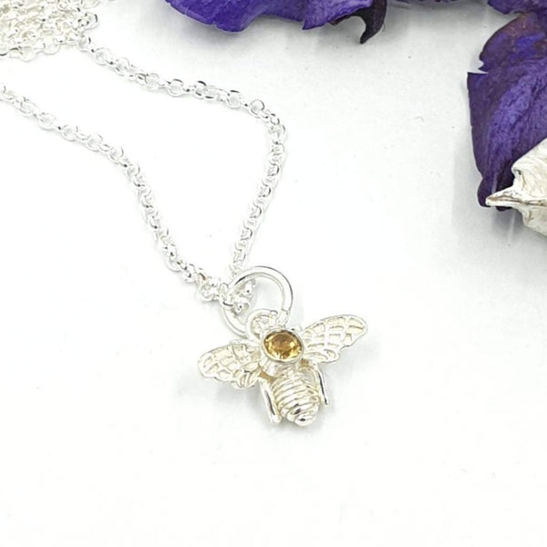 Bee with Golden Citrine necklace