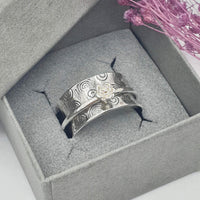 rose swirl spinner ring