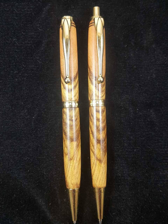 Wooden Pen & Pencil Set