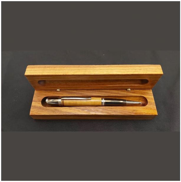 Single pen holder in Teak wood