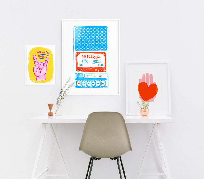 Cool retro posters and cool bedroom art. Living room posters and wall posters for bedroom.