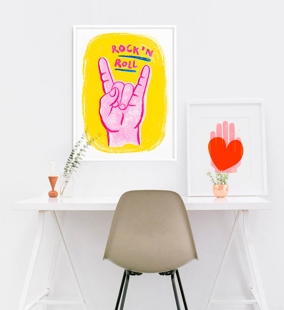 minimalist modern office artwork prints illustration, cool contemporary wall art for home office
