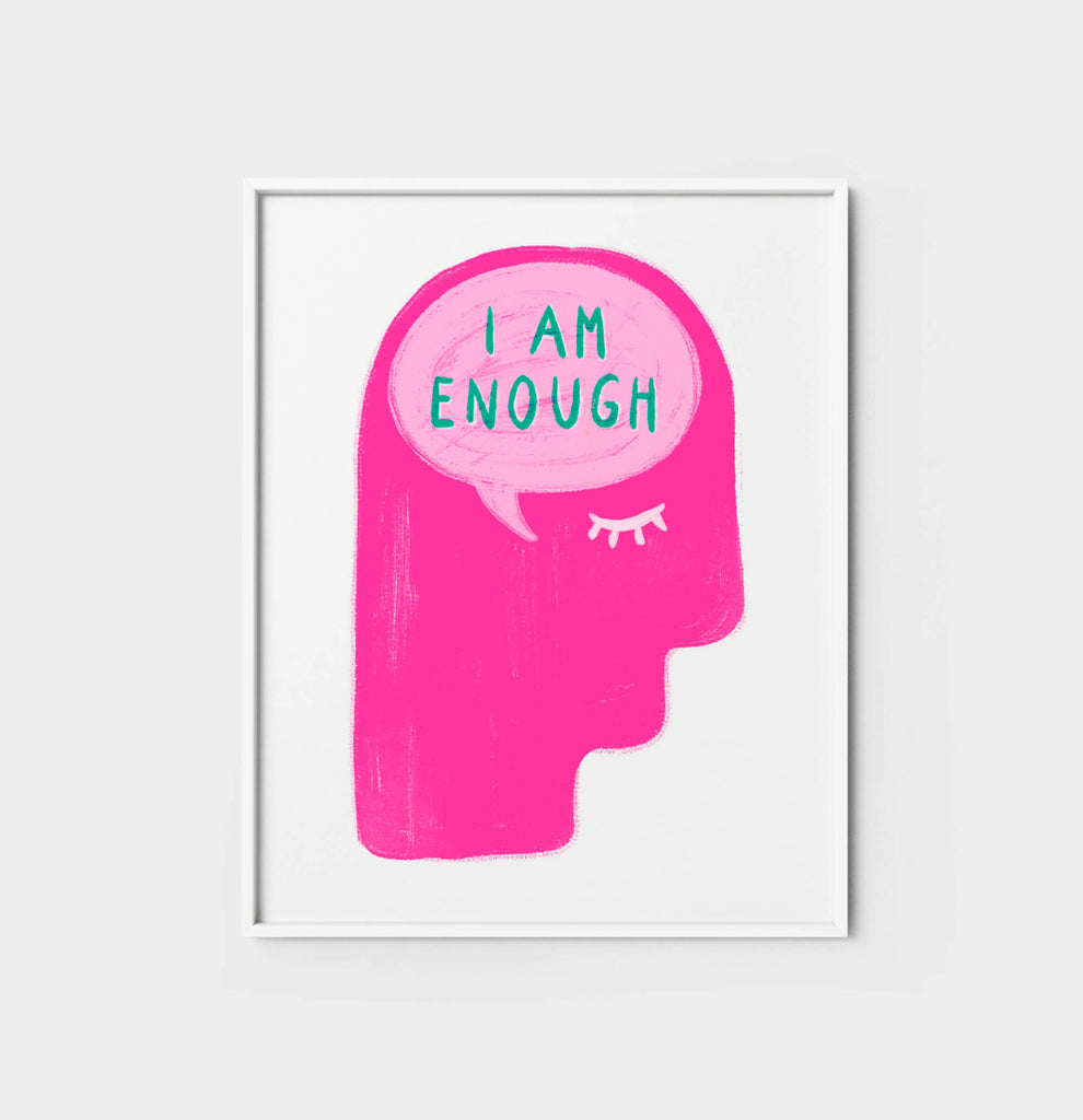 Inspirational quotes for women poster, feminist and feminine positive affirmation wall art prints