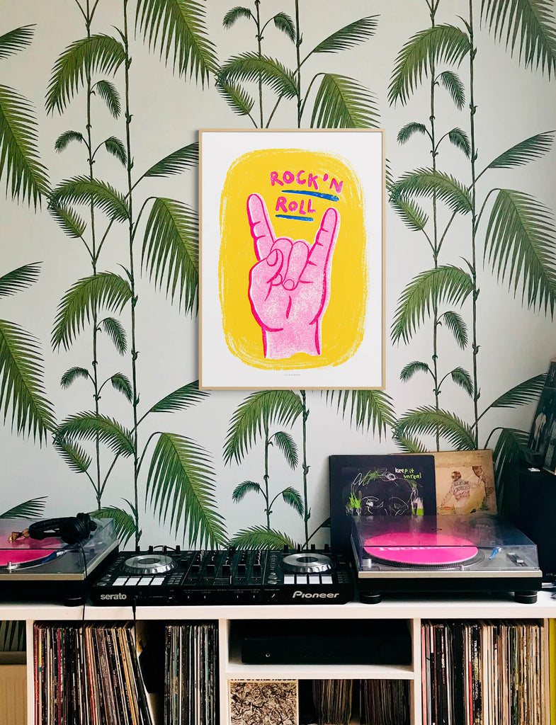 Retro music posters, rock and roll wall art living room prints