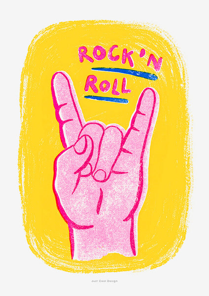 retro music prints, rock and roll wall art