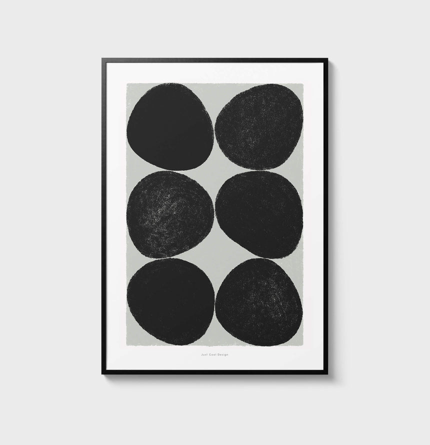 Black circle wall art living room posters, abstract circles wall art, modern art and contemporary art for black and white gallery wall