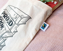 Load image into Gallery viewer, Proud Book Nerd Tote Bag - Fairtrade