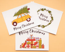 Afbeelding in Gallery-weergave laden, Christmas Cards - Set of 3/6/9