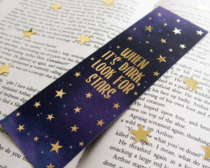 Galaxy Quote Gold Foil Bookmark