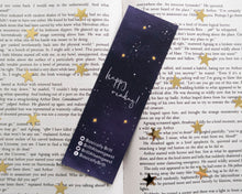 Load image into Gallery viewer, Galaxy Quote Gold Foil Bookmark