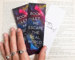 Watercolor Galaxy Bookmark
