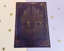 Load image into Gallery viewer, Magical Eye Gold Foil Print