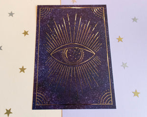 Magical Eye Gold Foil Print