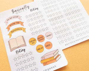 Reading Journal Tracking Stickers