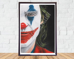 Joker Pencil Drawing Print A4