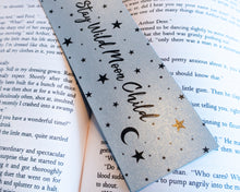Load image into Gallery viewer, Stay Wild Moon Child Silver Bookmark