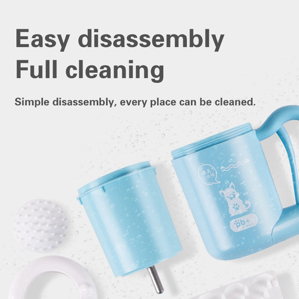 Portable Pet Paw Cleaner Brush