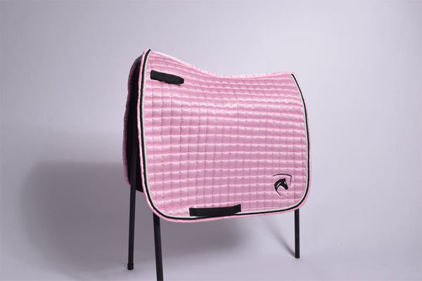 GLOSSY DRESSAGE PAD CANDYFLOSS PINK