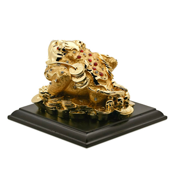 "Money Toad ""Chan Chu"" Statue (24k Gold Leaf)"