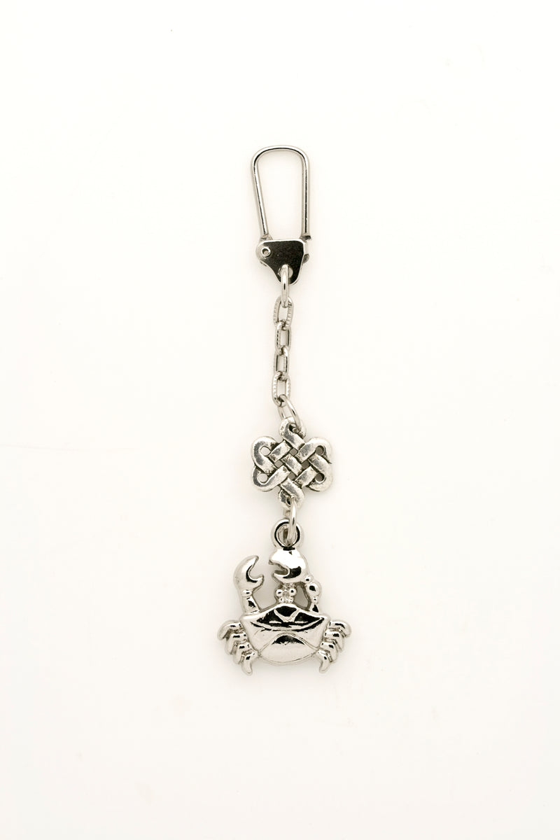 Crab with Mystic Knot Keychain